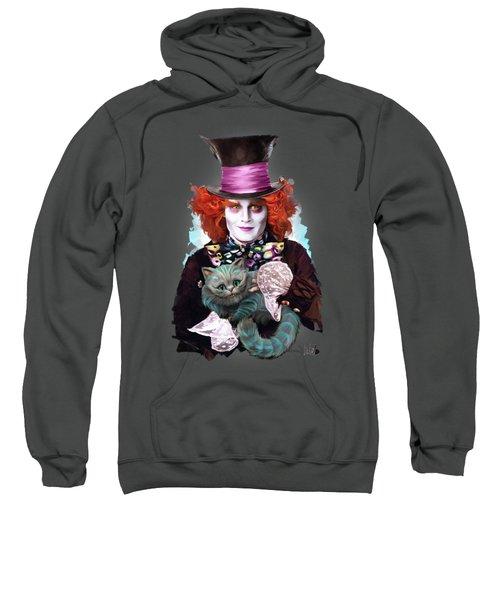 Mad Hatter And Cheshire Cat Sweatshirt