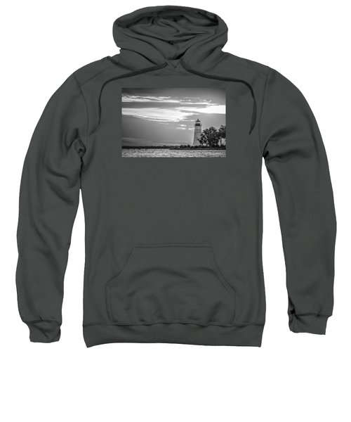 Madisonville Lighthouse In Black-and-white Sweatshirt