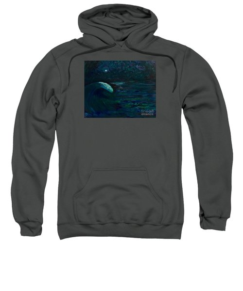Sweatshirt featuring the painting Maelstrom  by Denise Railey