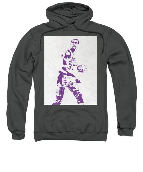 Magic Johnson Los Angeles Lakers Pixel Art Sweatshirt
