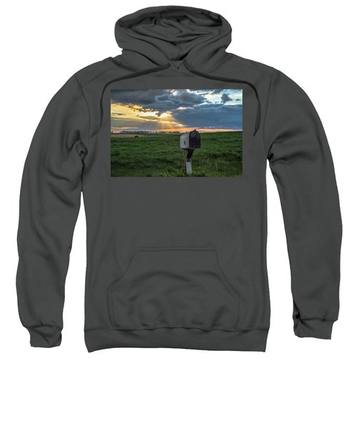 Mail Box In North Dakota  Sweatshirt