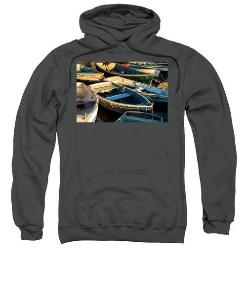 Maine Boats At Sunset Sweatshirt