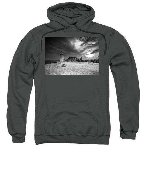 Maine Coastal Storm Over Pemaquid Lighthouse Sweatshirt