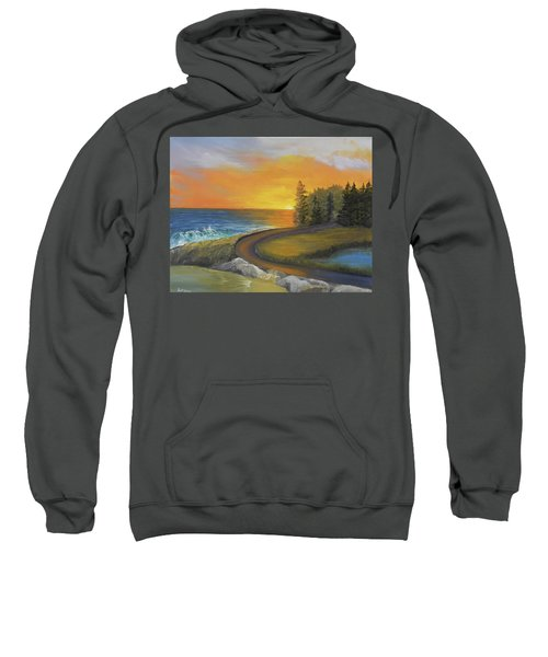 Maine Ocean Sunrise Sweatshirt