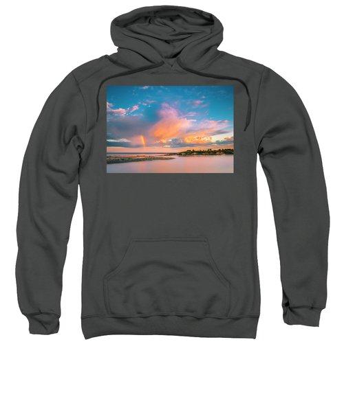 Maine Sunset - Rainbow Over Lands End Coast Sweatshirt