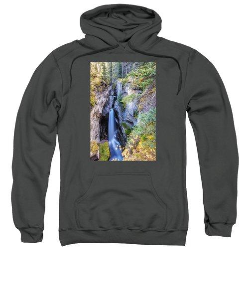 Maligne Canyon Waterfall Sweatshirt