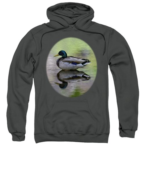 Sweatshirt featuring the photograph Mallard In Mountain Water by Mark Myhaver