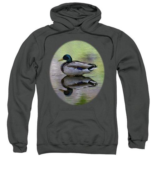 Mallard In Mountain Water Sweatshirt