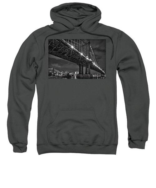 Manhattan Bridge Frames The Brooklyn Bridge Sweatshirt