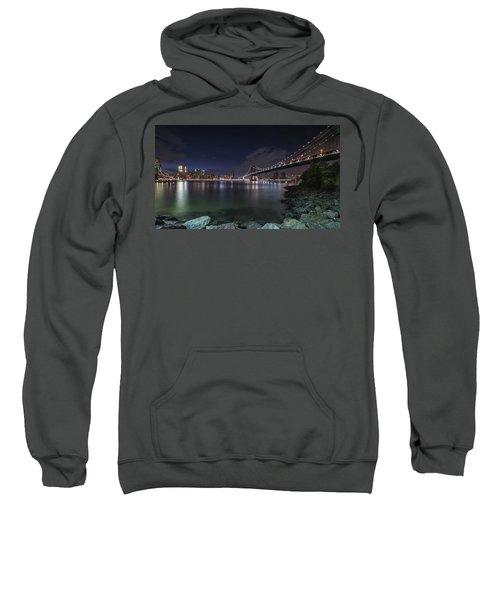 Manhattan Bridge Twinkles At Night Sweatshirt