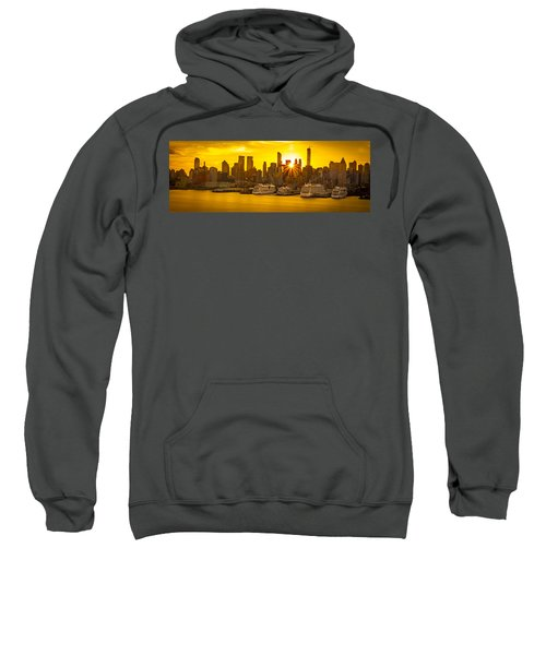 Manhattan's Ports At Sunrise Sweatshirt