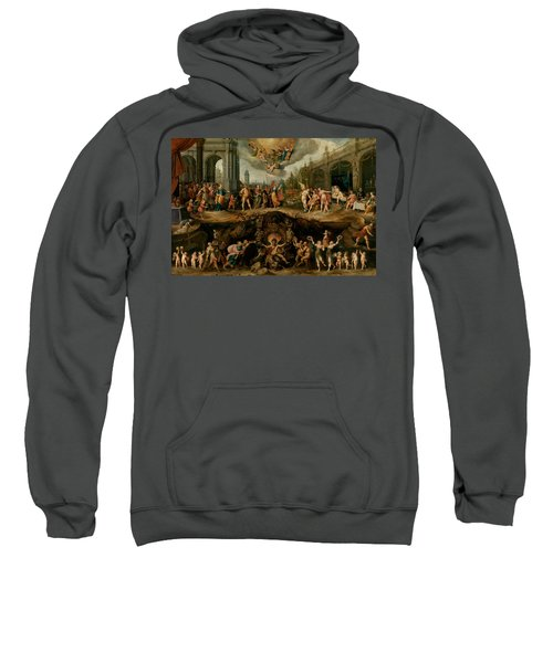 Mankind's Eternal Dilemma, The Choice Between Virtue And Vice Sweatshirt