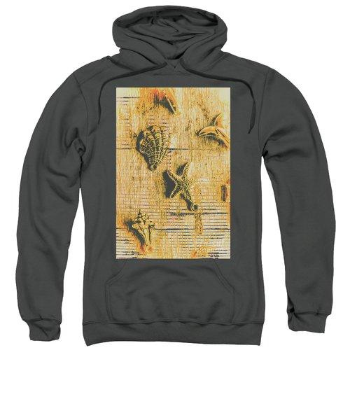 Maritime Sea Scroll Sweatshirt