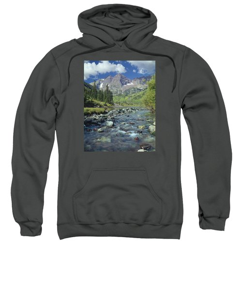 210404-maroon Bells And Creek  Sweatshirt