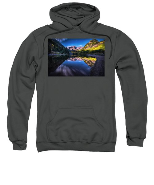 Maroon Bells By Moonlight Sweatshirt
