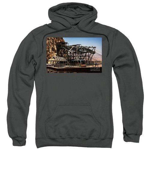 Sweatshirt featuring the photograph Masada Lift by Mae Wertz