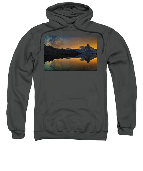 Matterhorn Milky Way Reflection Sweatshirt