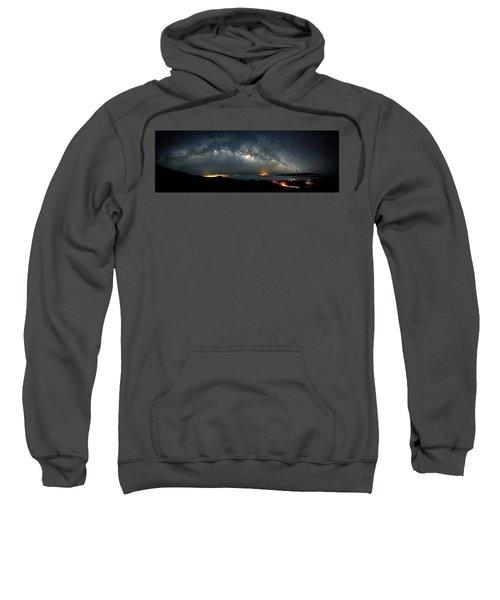 Mauna Kea Milky Way Panorama Sweatshirt