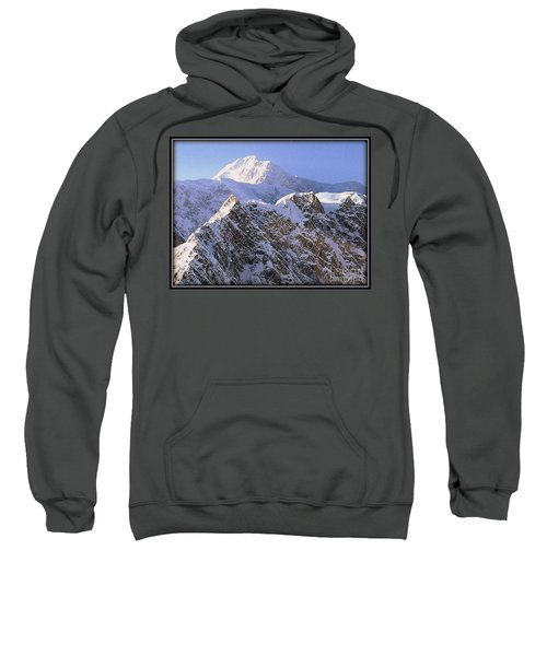Sweatshirt featuring the photograph Mc Kinley Peak by James Lanigan Thompson MFA