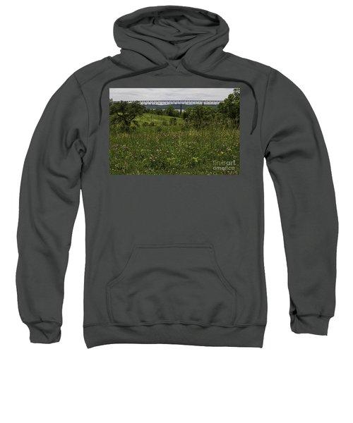 Meadow View Of Rhinecliff Bridge Sweatshirt
