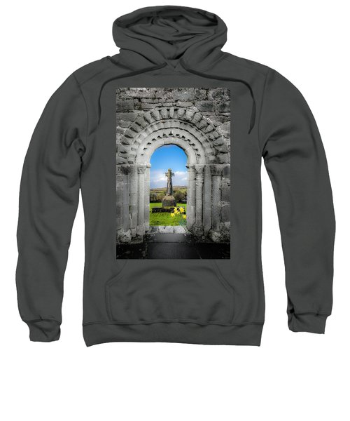 Sweatshirt featuring the photograph Medieval Arch And High Cross, County Clare, Ireland by James Truett