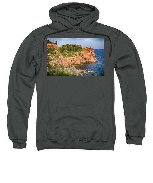 Mediterranean French Coastline Sweatshirt