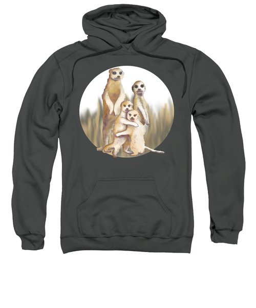 Meerkats  Sweatshirt by April Burton