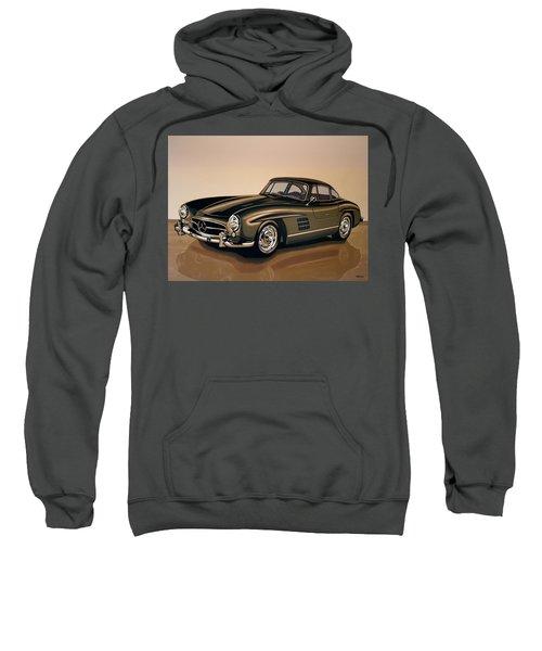 Mercedes Benz 300 Sl 1954 Painting Sweatshirt