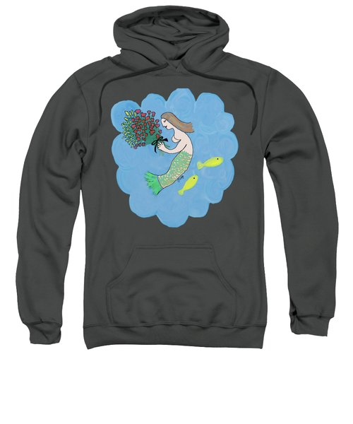 Mermaid Sweatshirt by Priscilla Wolfe