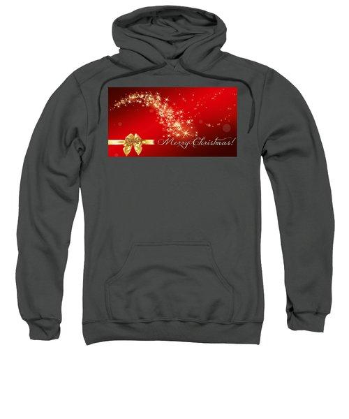 Merry Christmas Christmas Card Sweatshirt by Bellesouth Studio