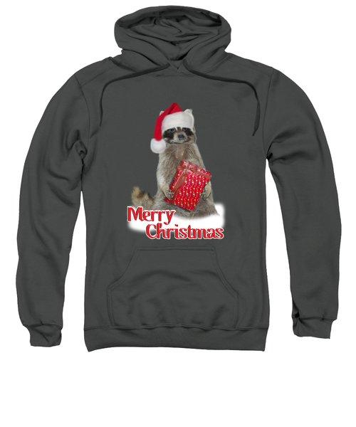 Merry Christmas -  Raccoon Sweatshirt by Gravityx9 Designs