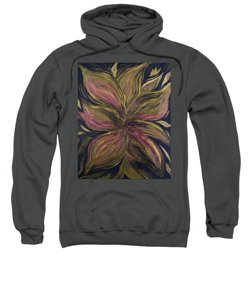 Metallic Flower Sweatshirt