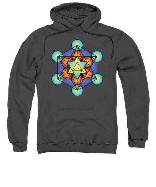 Metatron's Cube With Merkaba Sweatshirt