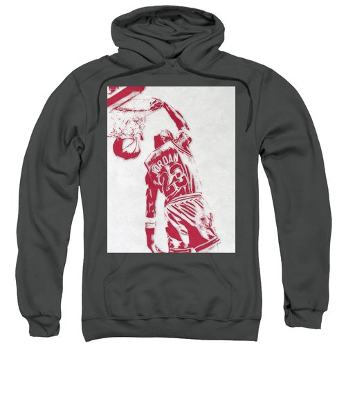 Michael Jordan Chicago Bulls Pixel Art 1 Sweatshirt by Joe Hamilton