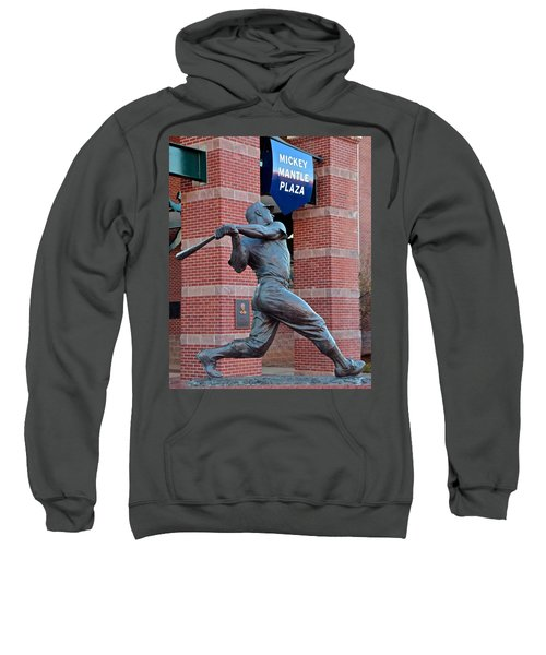 Mickey Mantle Sweatshirt by Frozen in Time Fine Art Photography
