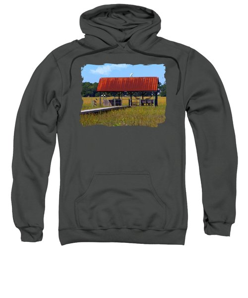 Midday Island Creek View Sweatshirt by Deborah Smith