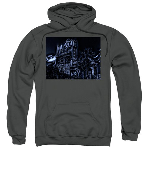 Midnight At The Tower Of Terror Mp Sweatshirt by Thomas Woolworth