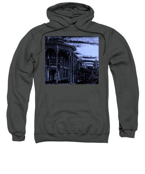 Midnight On Main Street Disney World Mp Sweatshirt by Thomas Woolworth