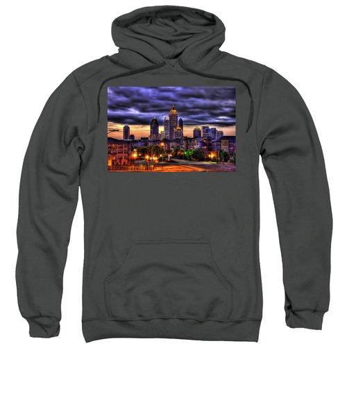 Midtown Atlanta Towers Over Atlantic Commons Art Sweatshirt