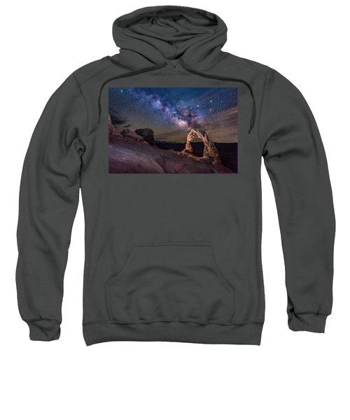 Milky Way And Delicate Arch Sweatshirt