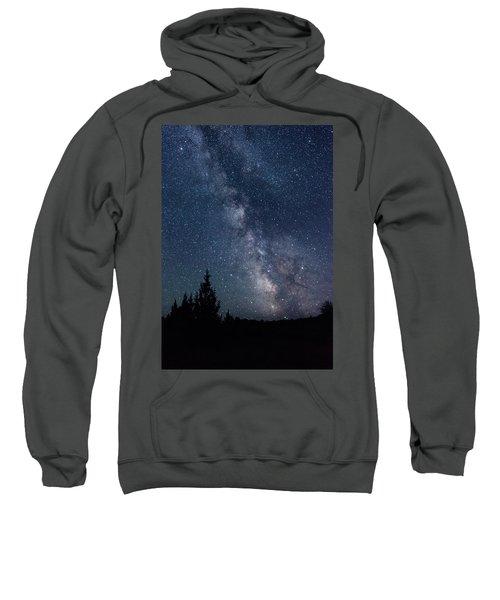 Milky Way At Eastern Oregon Wilderness Sweatshirt