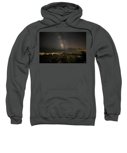 Milky Way At Pemaquid 2 Sweatshirt