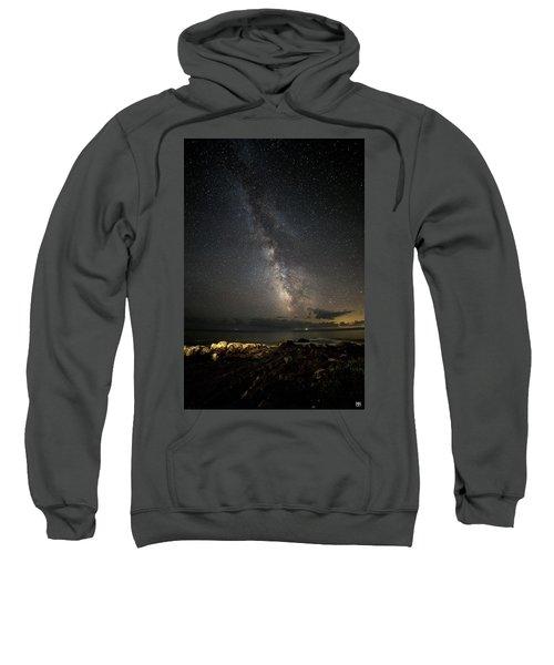 Milky Way At Pemaquid Sweatshirt