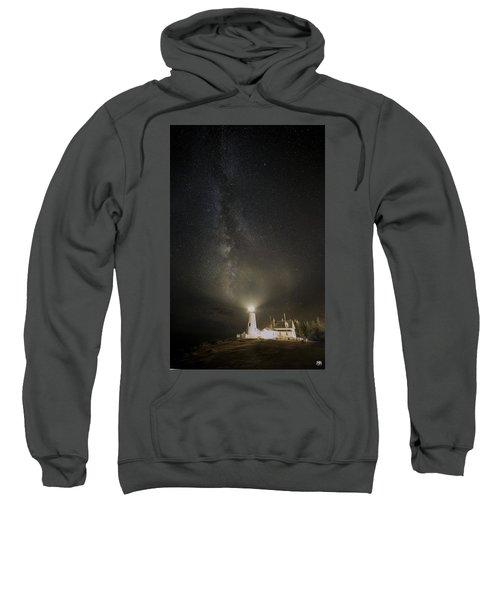 Milky Way At Pemaquid Light Sweatshirt