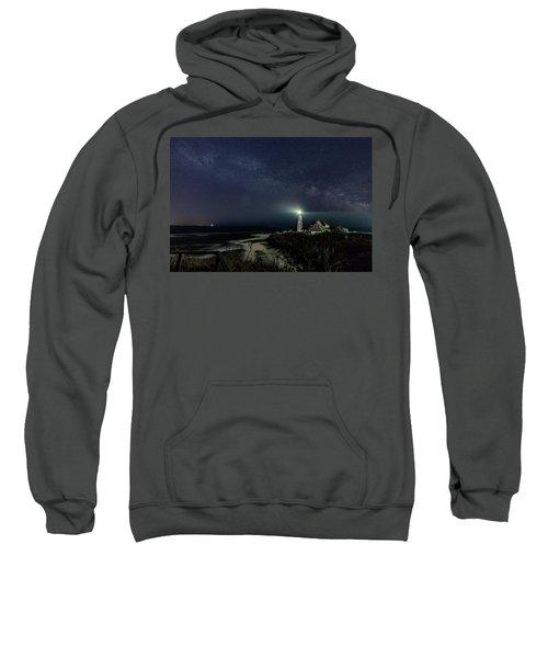 Milky Way At Portland Head Light Sweatshirt