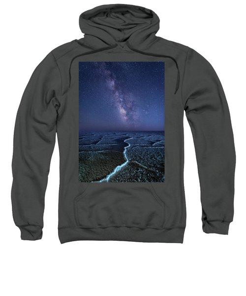 Milky Way At The Salt Flats Sweatshirt