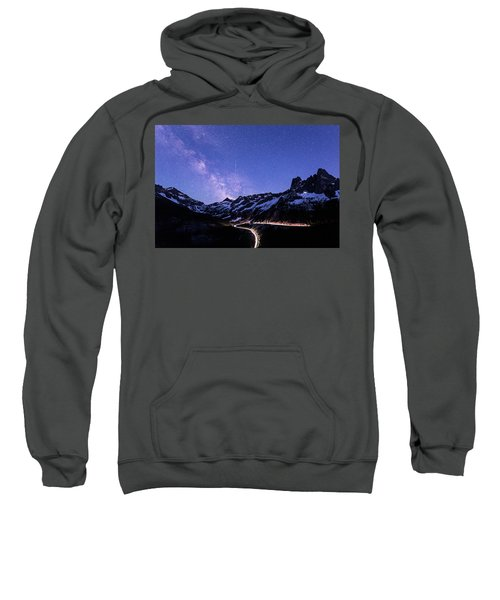 Milky Way At Washington Pass Sweatshirt