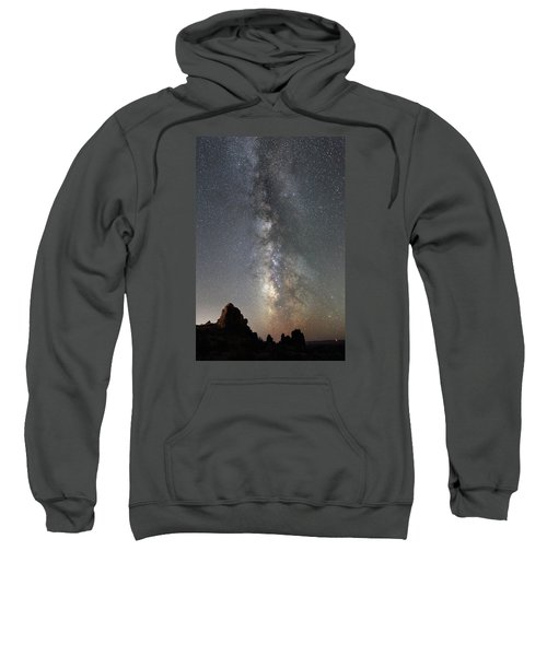 Milky Way Over Arches Np  One Sweatshirt