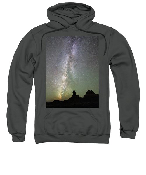 Milky Way Over Arches Np Four Sweatshirt