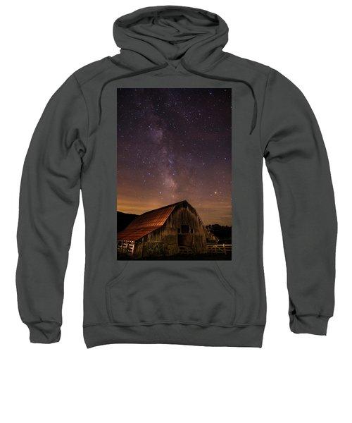 Milky Way Over Boxley Barn Sweatshirt